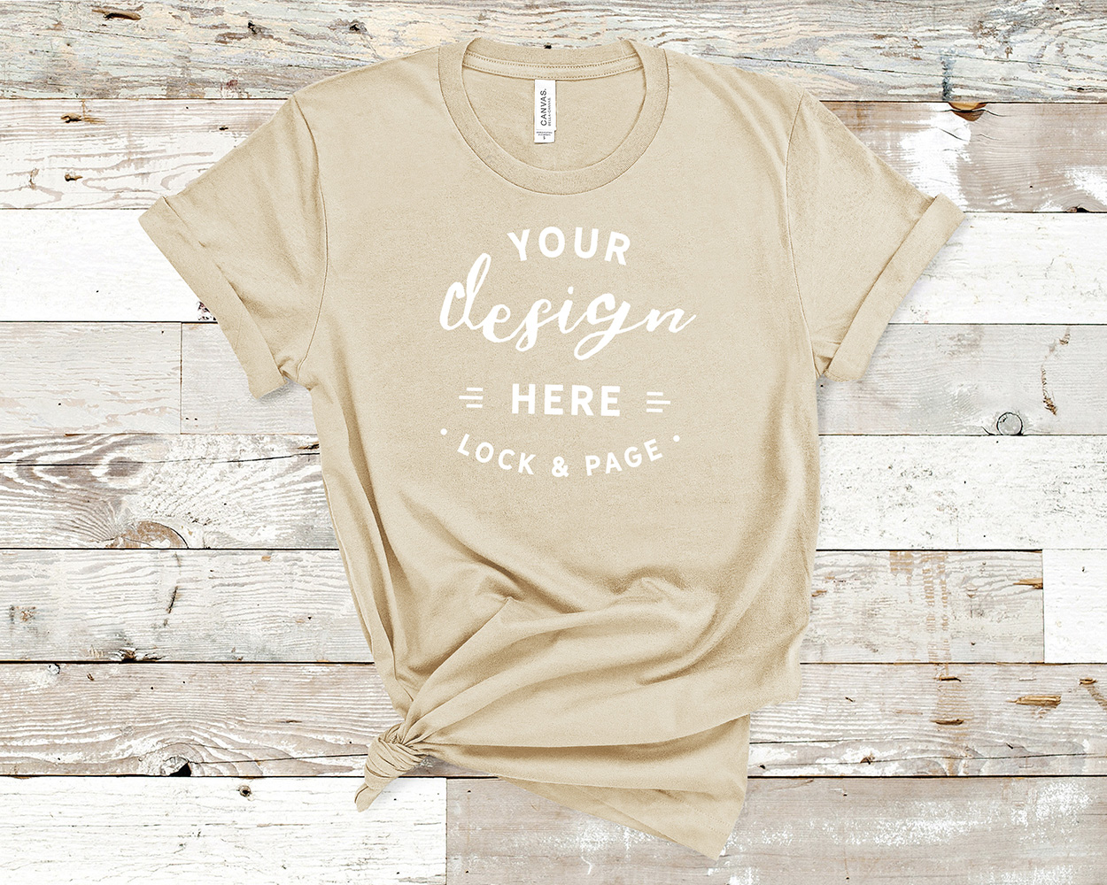 Bella Canvas 3001 Mockup T-Shirt Bundle All Colors On Wood example image 21