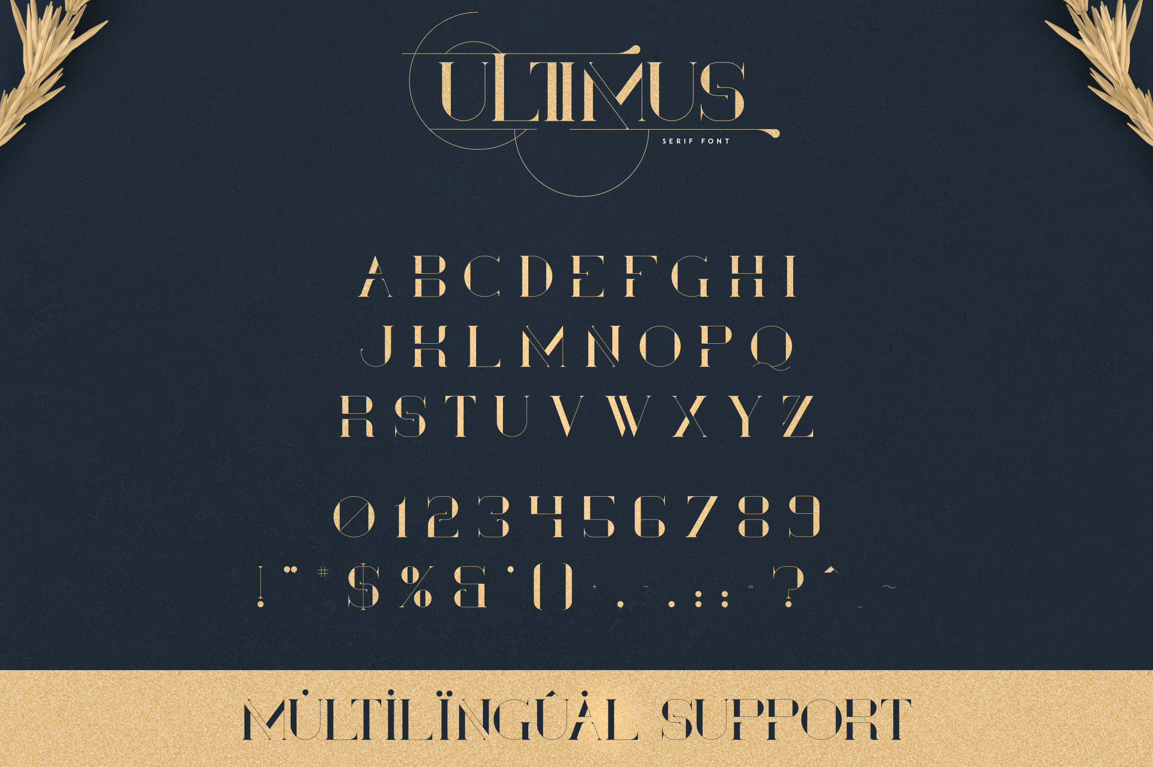 Ultimus serif font Extras example image 7