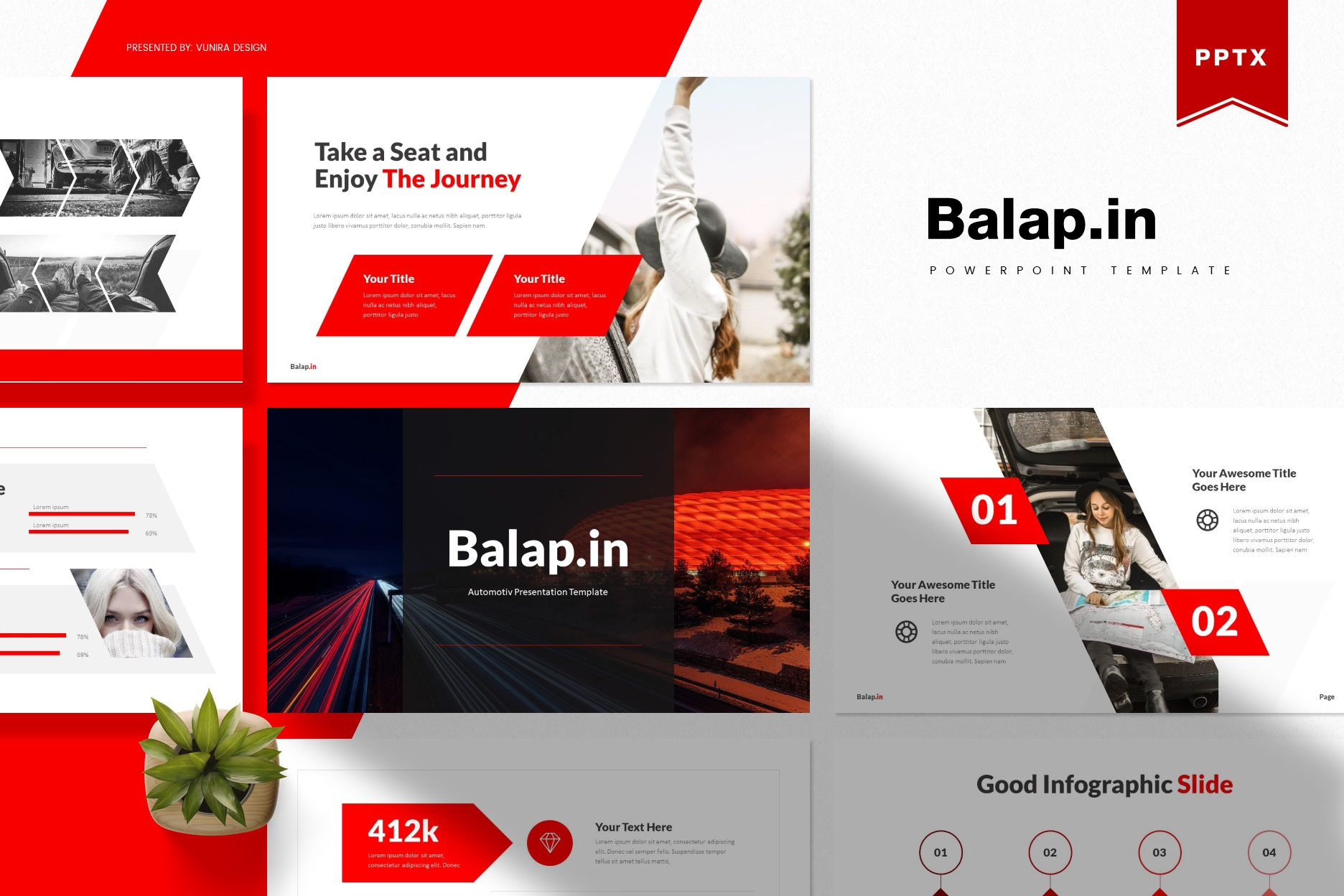 Balapin | Powerpoint, Keynote, GoogleSlides Template example image 1