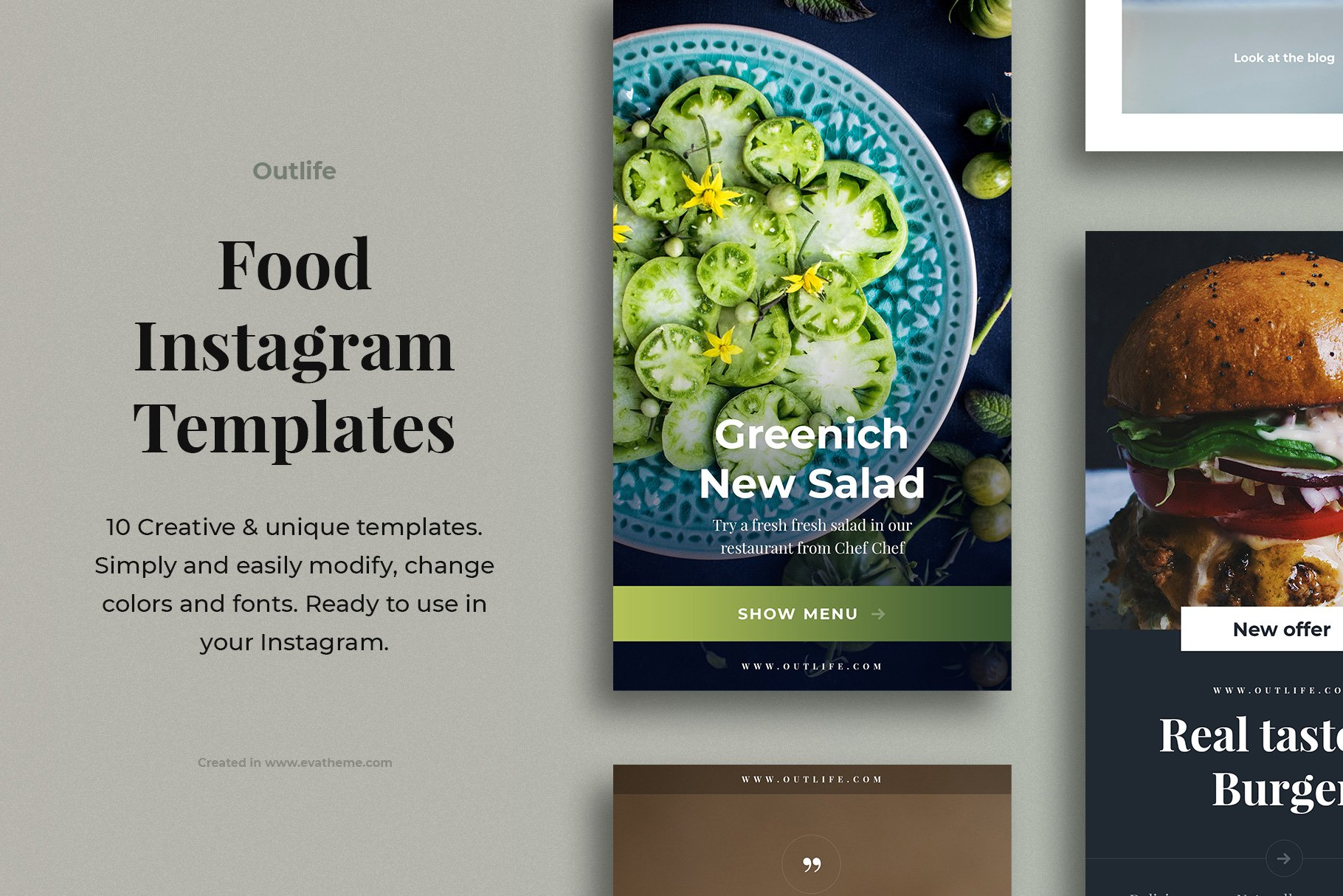 Outlife Food Instagram Templates example image 1