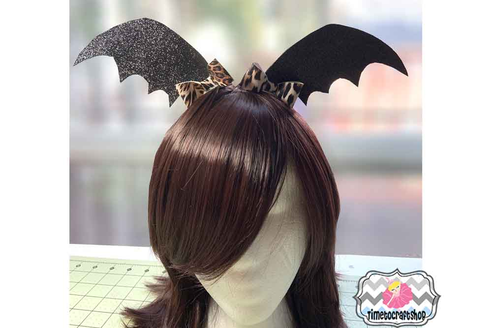 Halloween Batwing Hair Bow Template example image 2