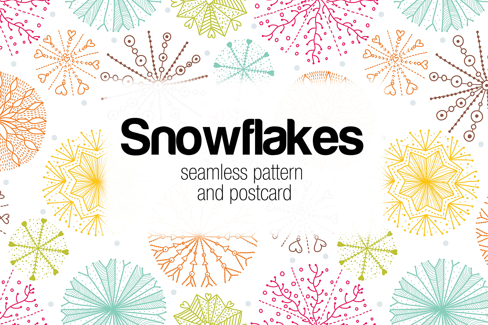 Snowflakes.Winter pattern. example image 1