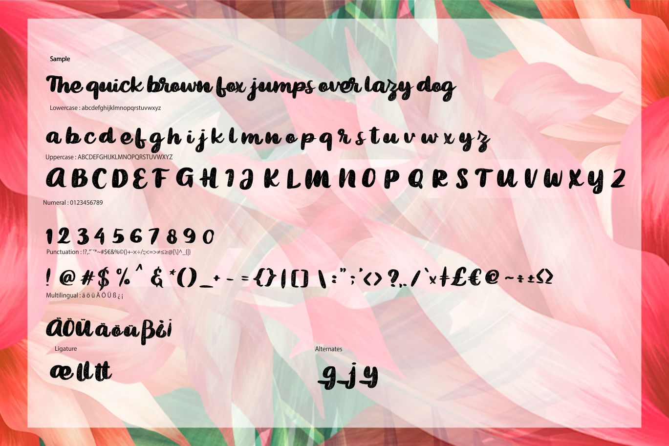 Bigted | Rough Script Font example image 6