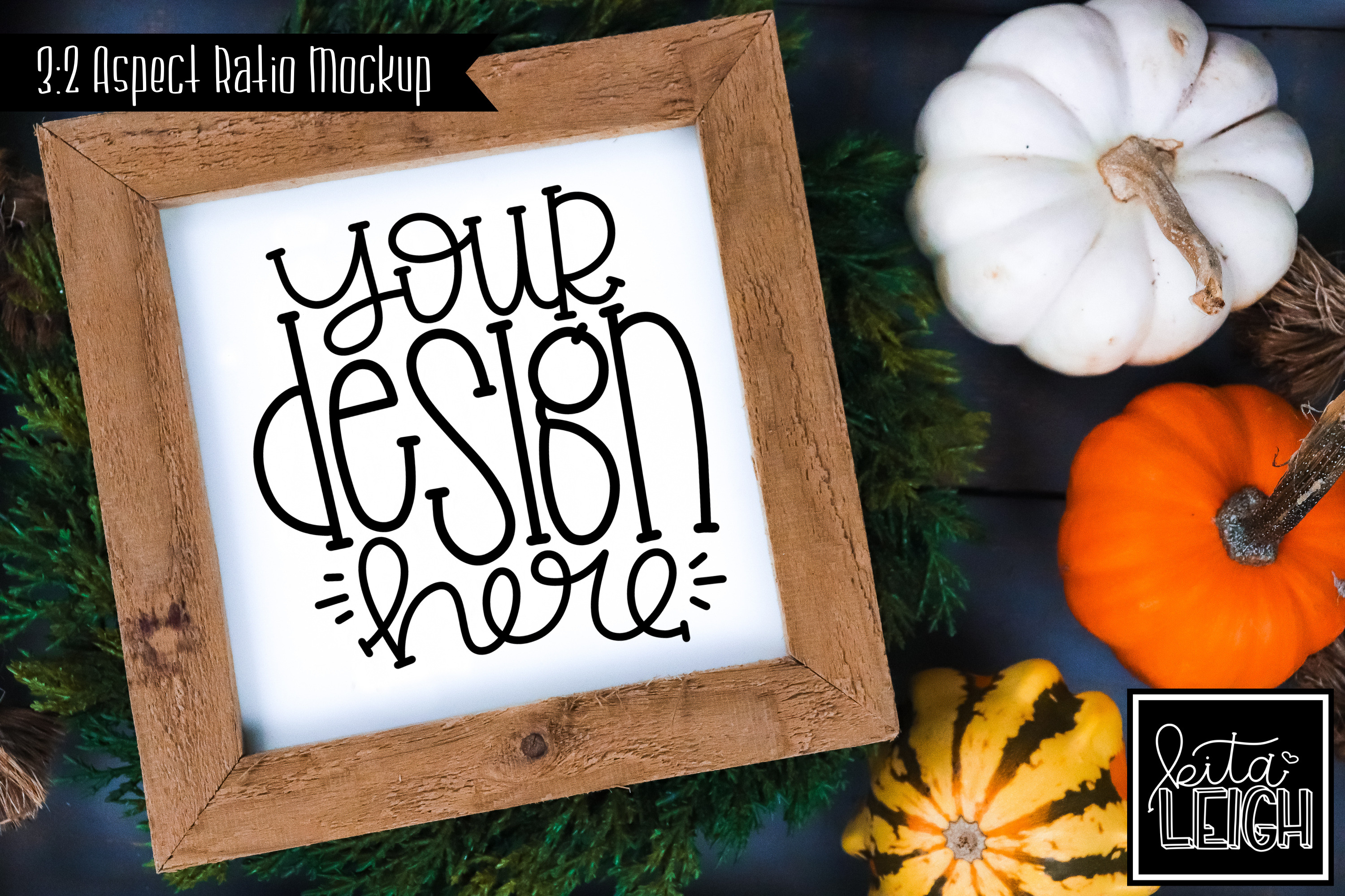 Square Sign Fall Mockup example image 1