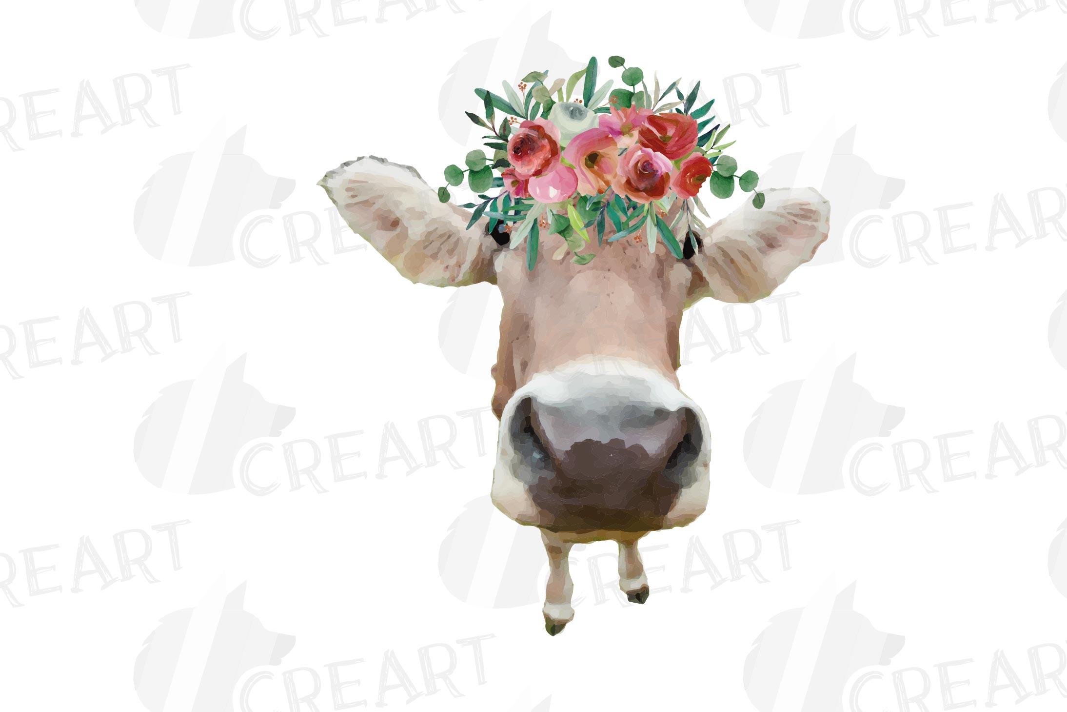 Not today Heifer printable shirt, mug, card floral cow png example image 22