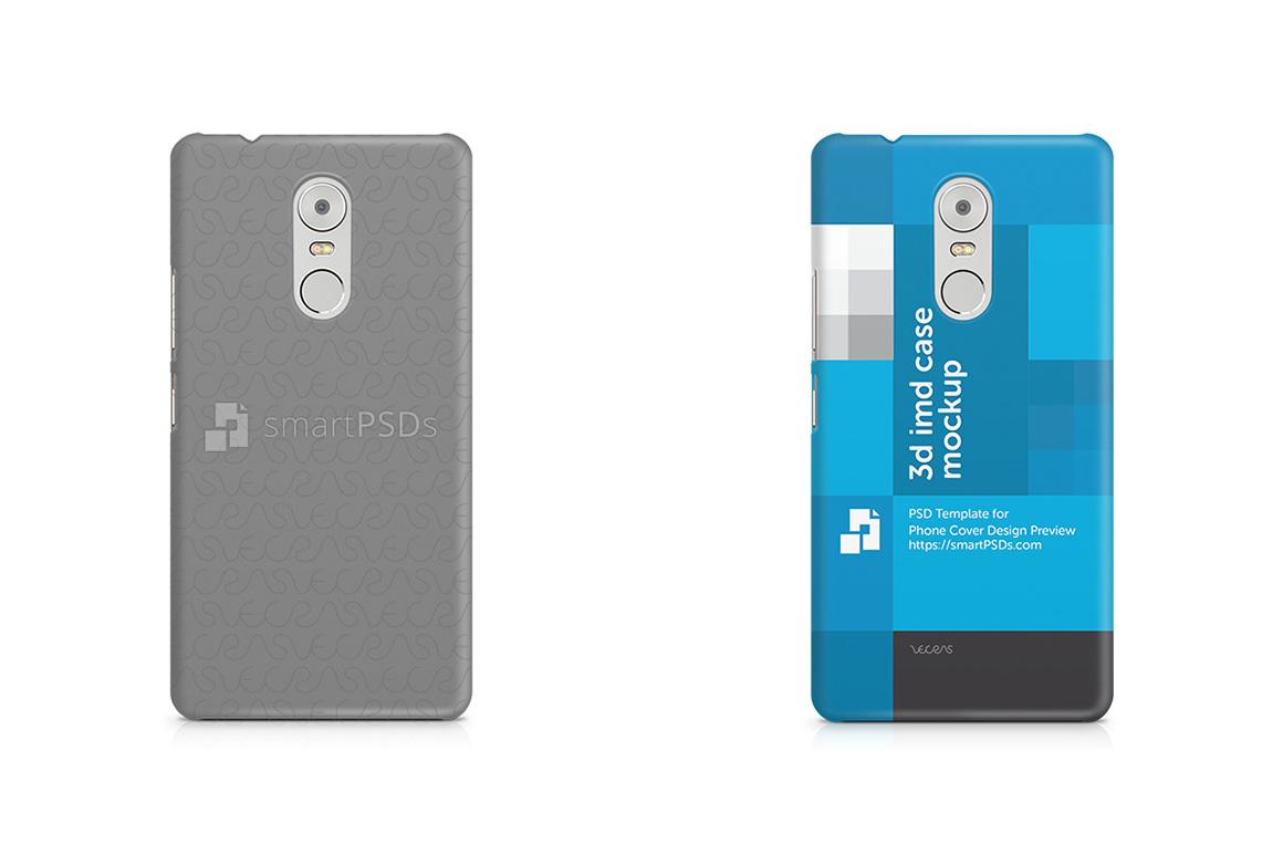 Lenovo Vibe K6 Note 3d IMD Mobile Case Design Mockup 2016 example image 2