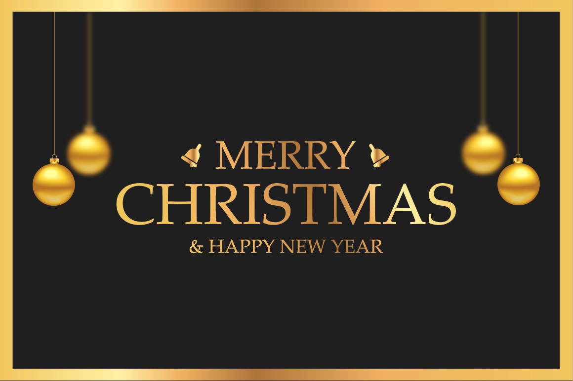 Luxury Christmas greeting card example image 1