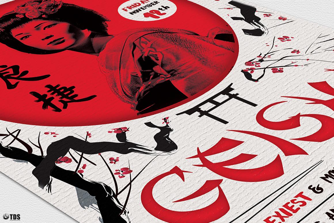 Geisha Night Flyer Template V4  example image 6