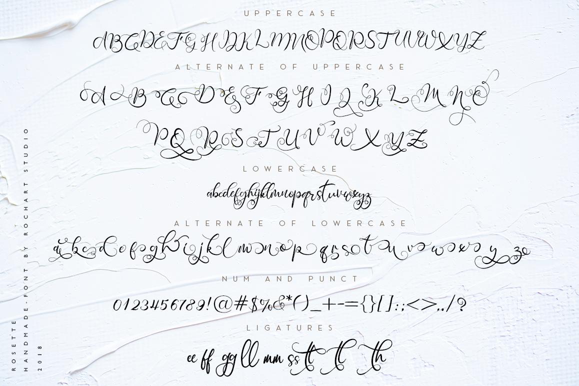 Rosette Script example image 2