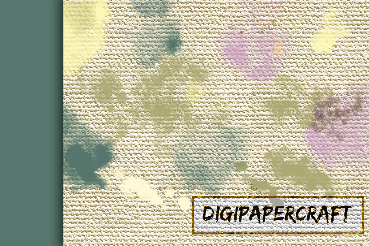 22 Colorful backgrounds. Watercolor splatter on canvas paper example image 6