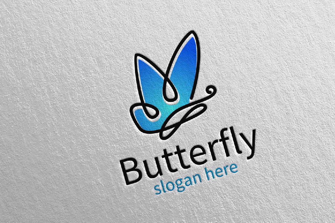 Butterfly Logo vol 15 example image 2