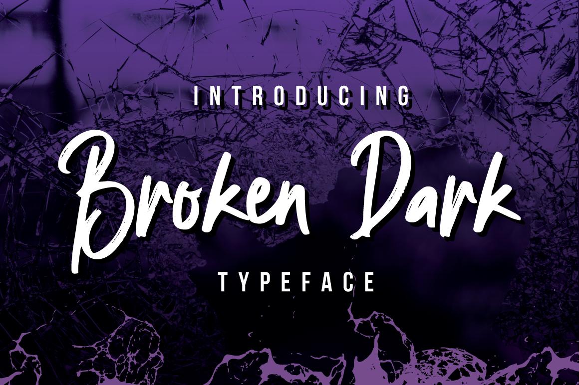 Broken Dark Typeface example image 5
