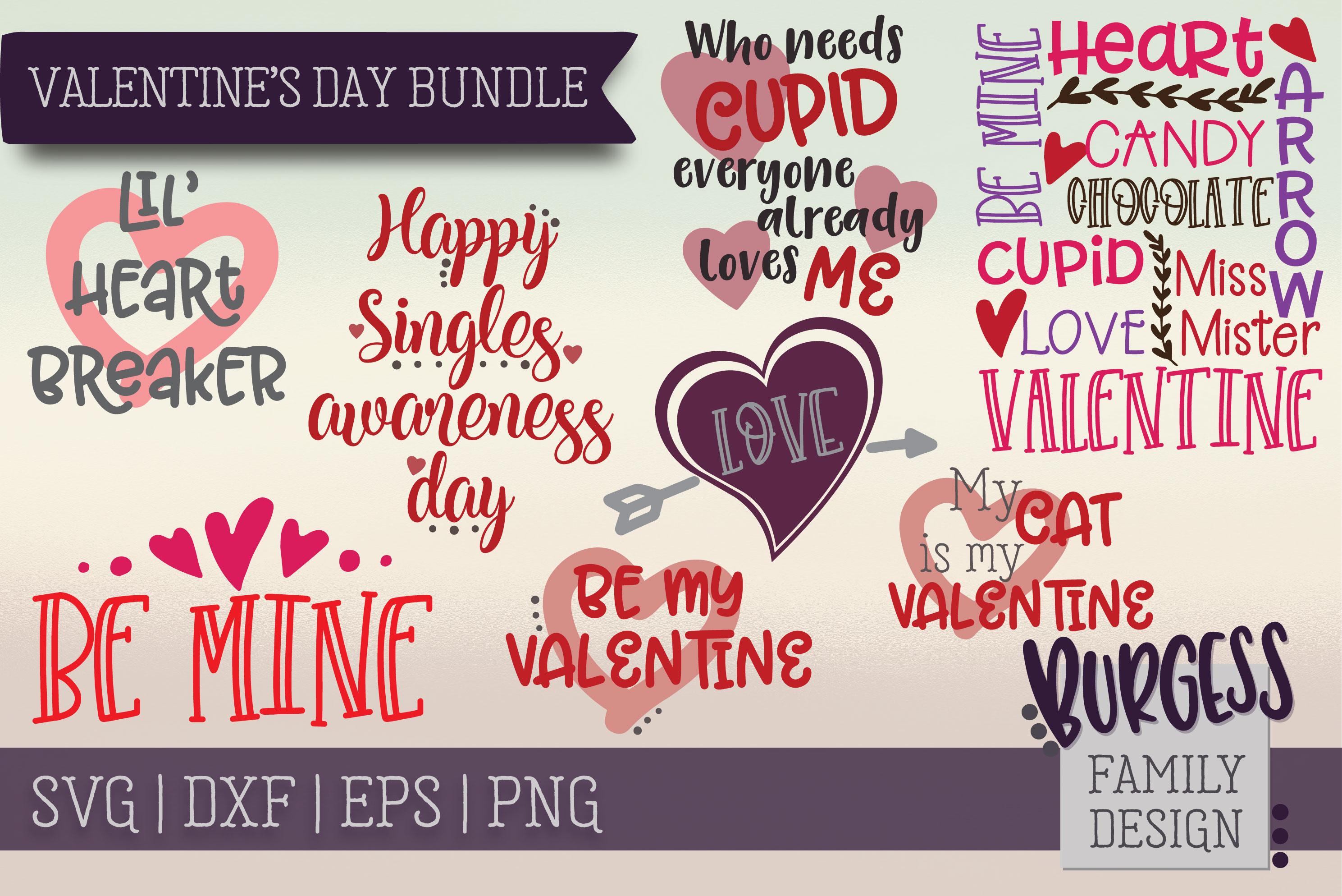 Valentine's Day Bundle | SVG DXF EPS PNG example image 1