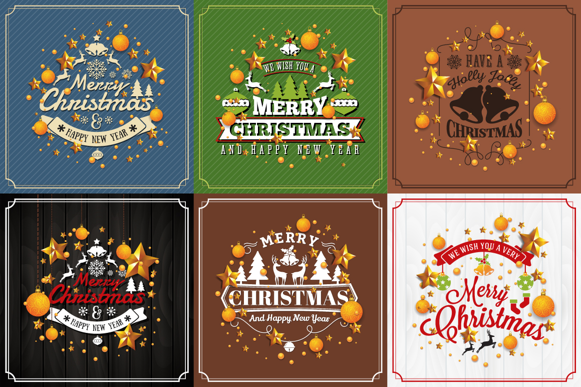 Merry Christmas Greeting Card Background example image 1