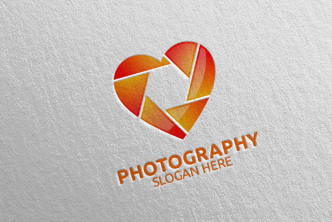 Abstract Camera Photography Logo 8 example image 5