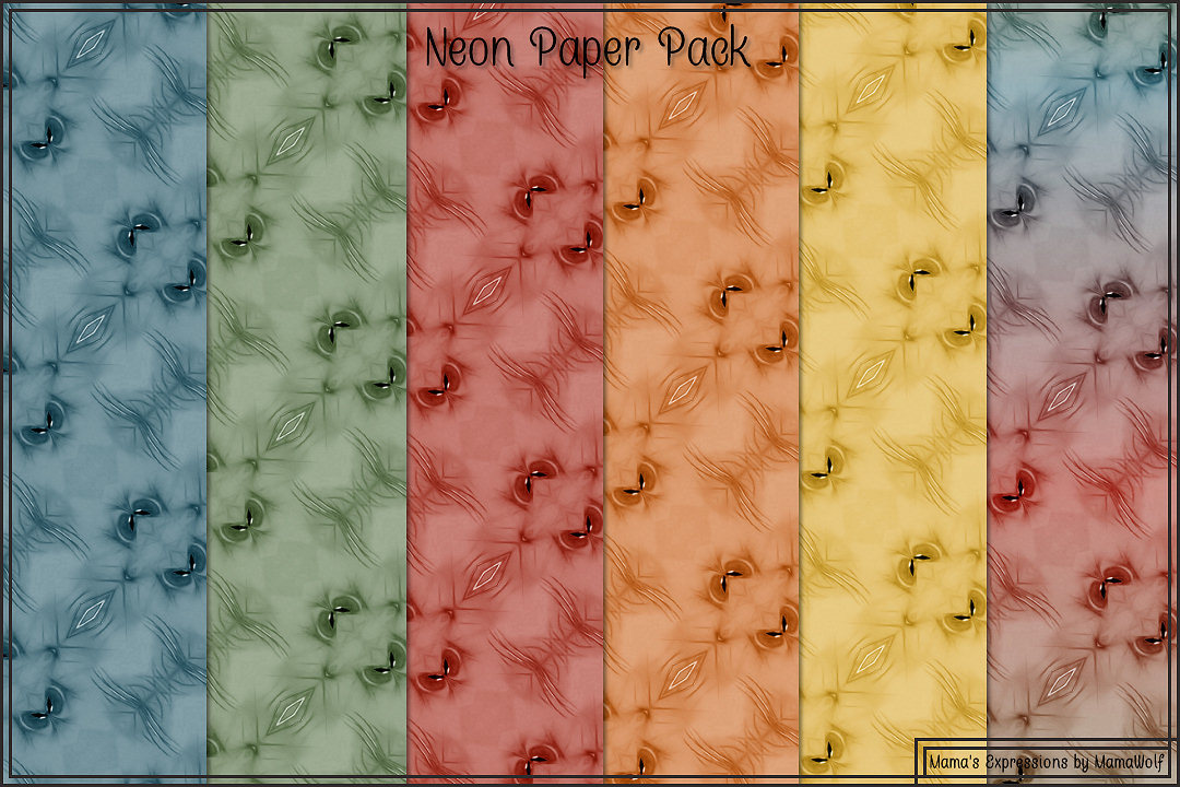Neon Paper Pack example image 3