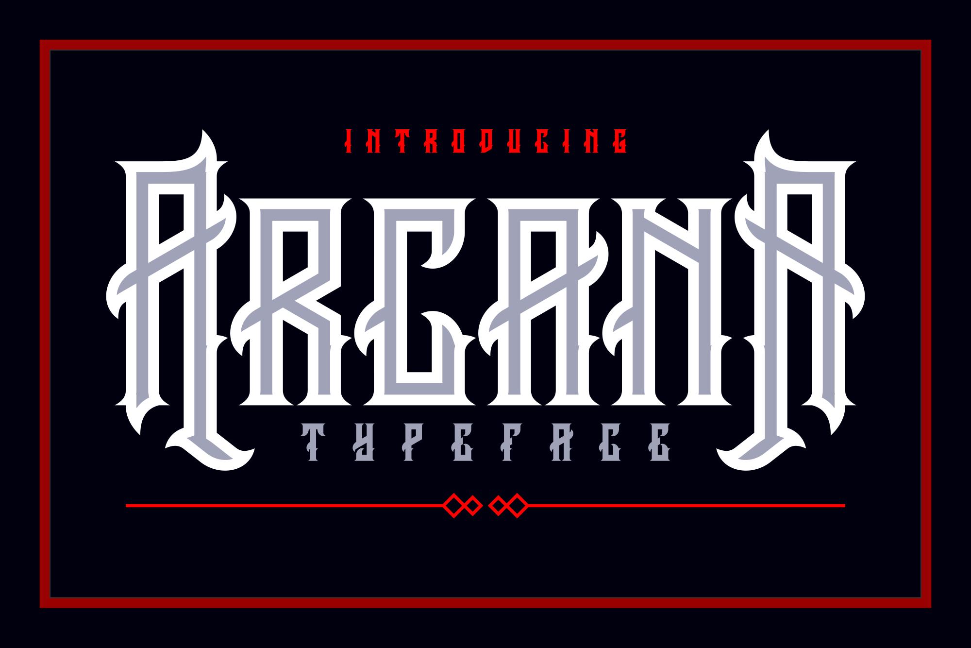 Arcana Typeface example image 1
