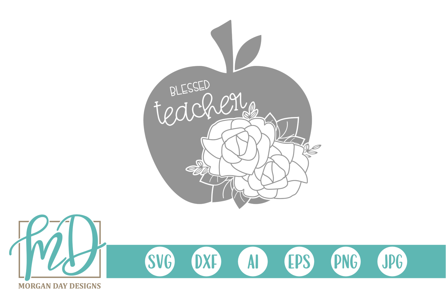 Back to School - School - Teacher - Blessed Teacher SVG example image 1