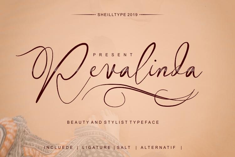 Revalinda Stylist Scripts font example image 1