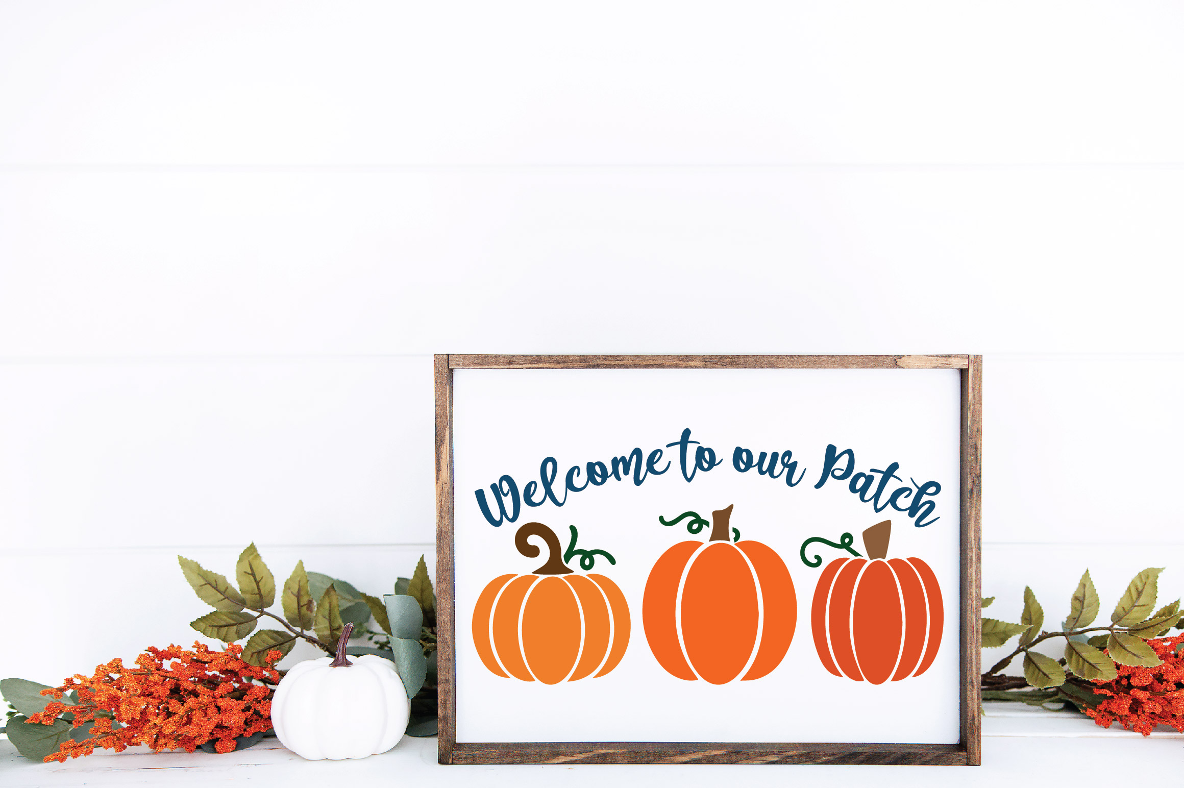 Welcome to our Patch SVG Cut File - Fall Pumpkin SVG example image 4