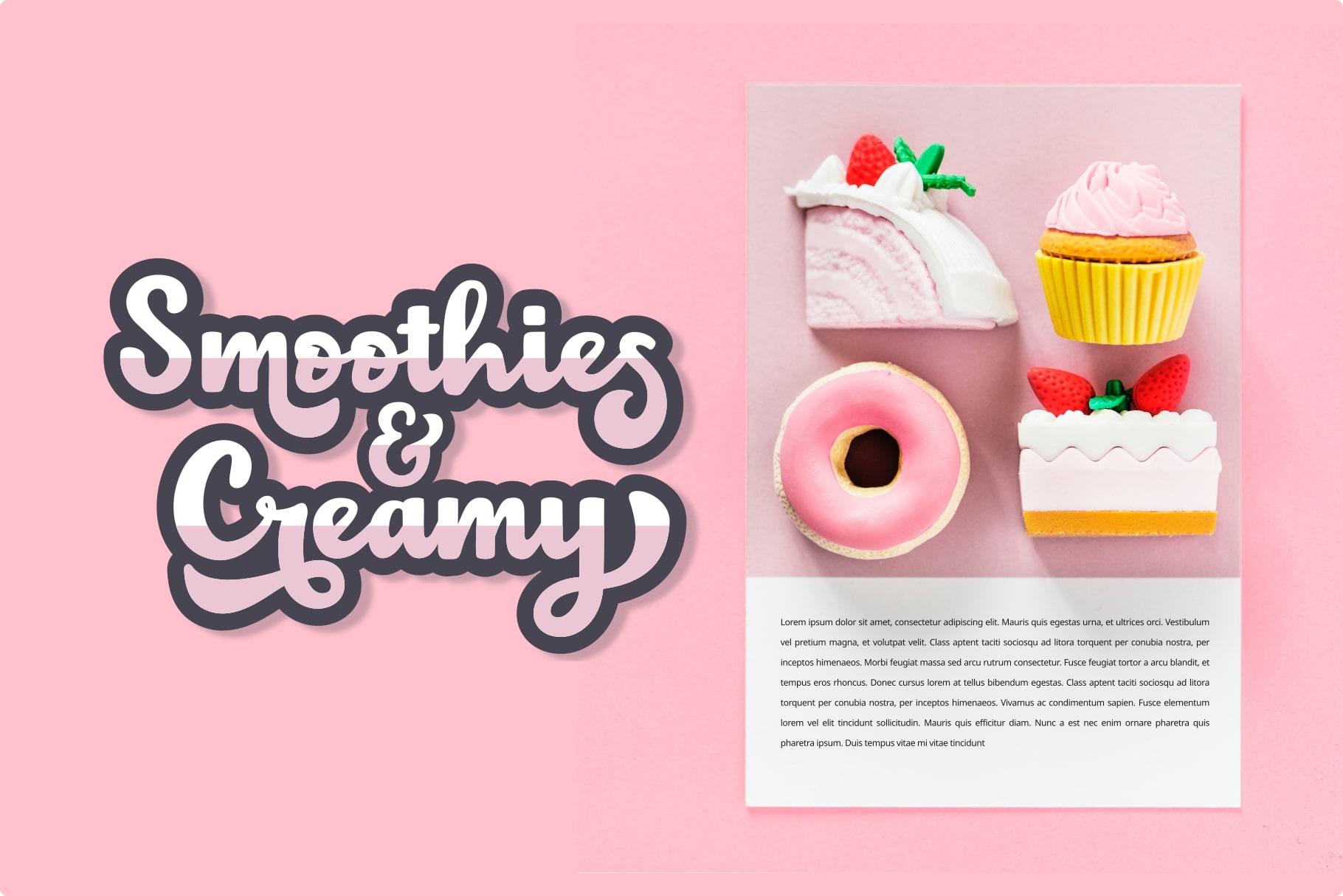 Choko Milky // Fun and Bold Fonts example image 4