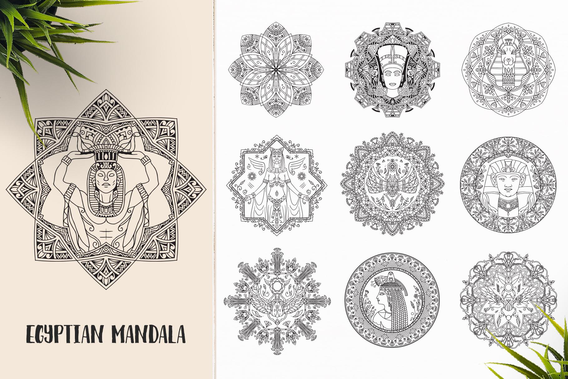 530 Vector Mandala Ornaments Bundle example image 12