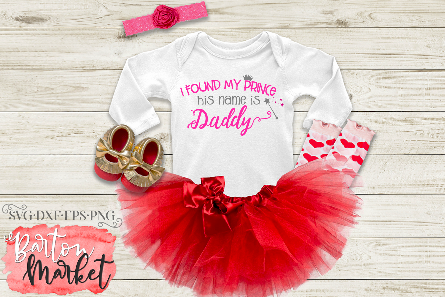 I Found My Prince - His Name Is Daddy SVG DXF EPS PNG example image 2