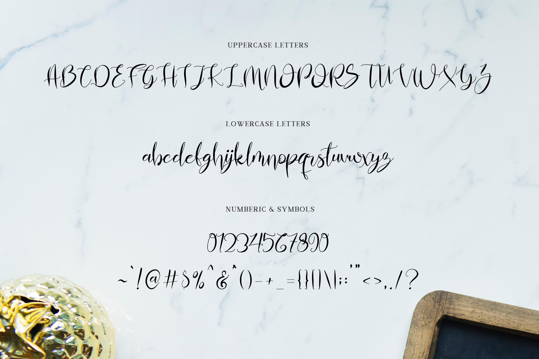 Almahira Script Font example image 9