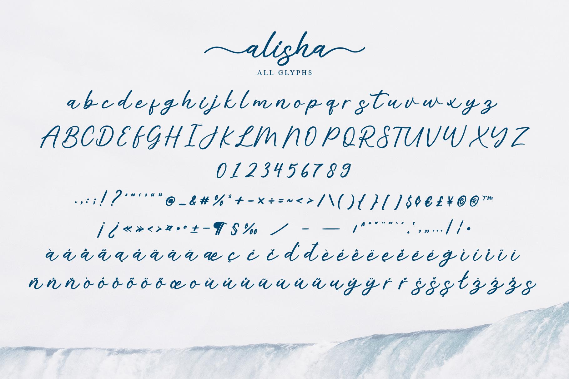 Alisha - Sweet Calligraphy Font example image 7