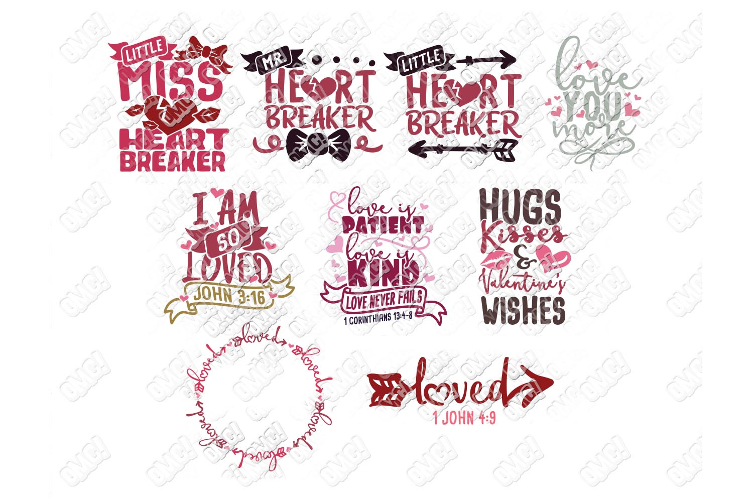 Valentine Quotes SVG Phrases Bundle in SVG/DXF/PNG/JPG/EPS example image 3