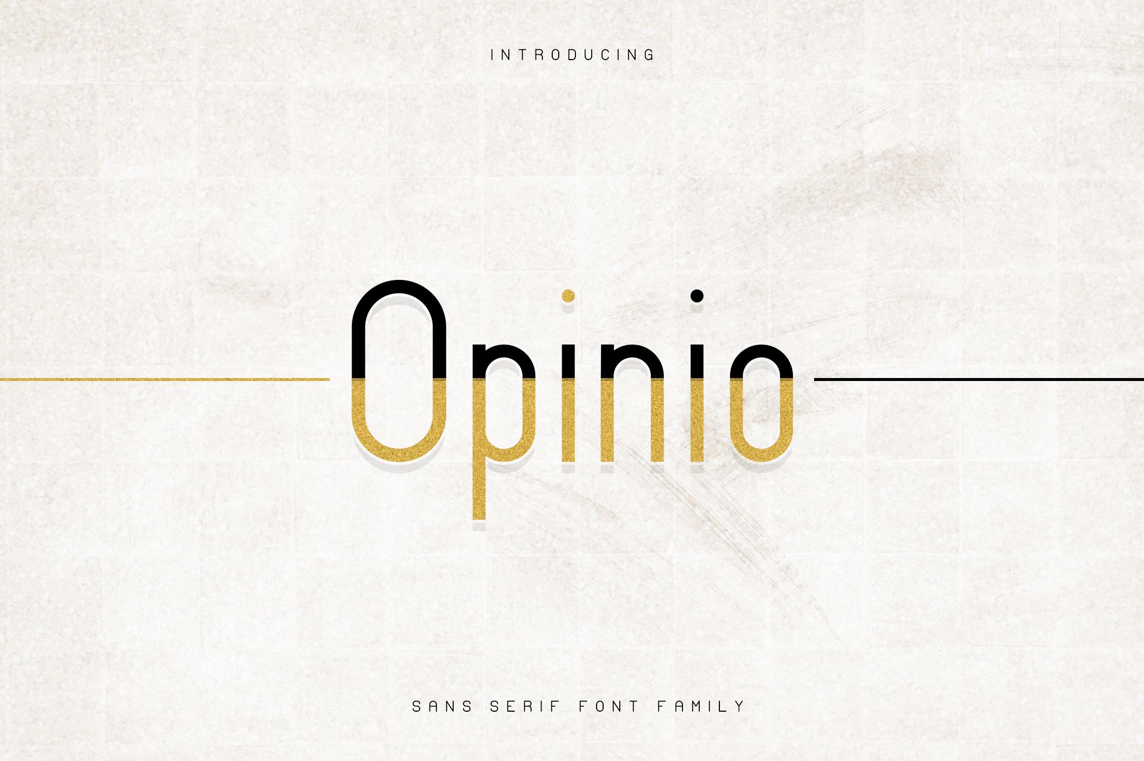 Opinio - Sans serif family example image 1