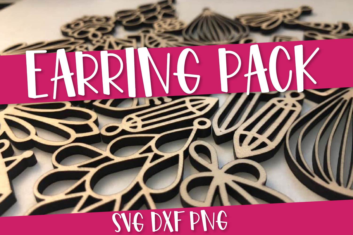 Earring SVG Bundle Pack - 12 Hand Drawn Earrings example image 1