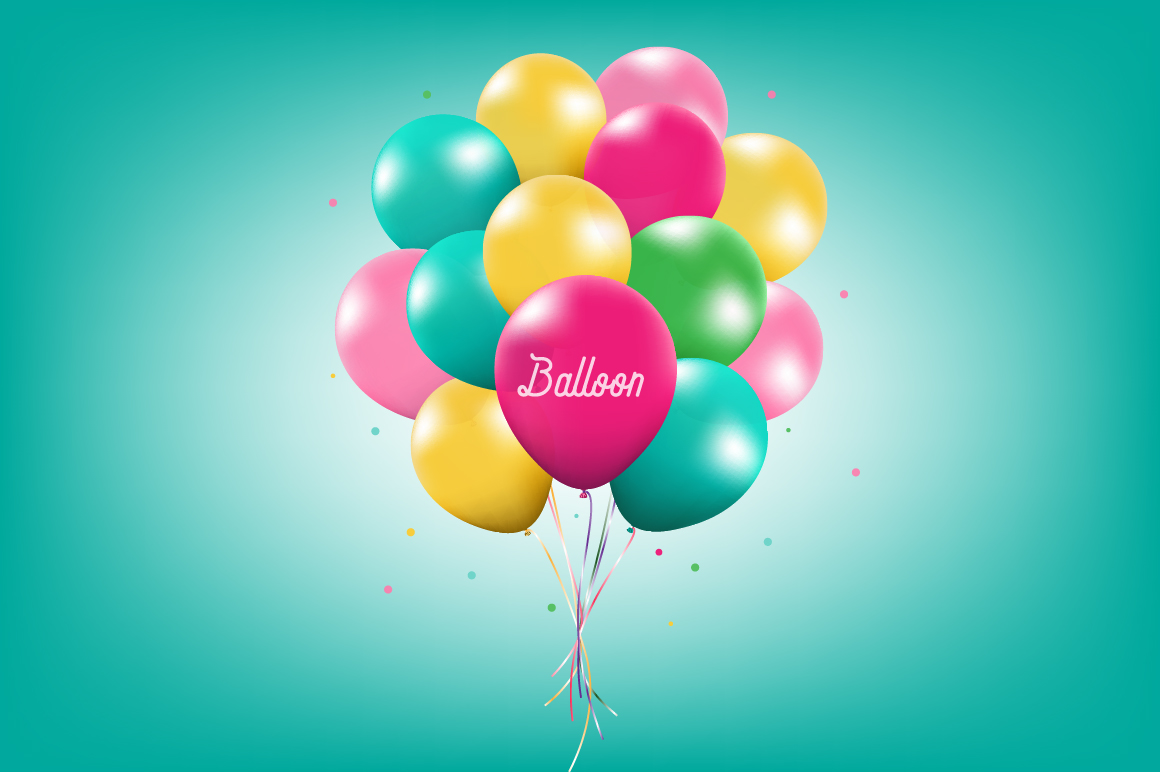 Vector Balloon Set example image 1