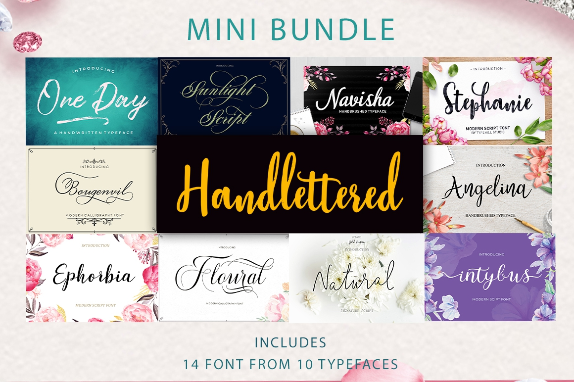 Mini Bundle Handlettered example image 1