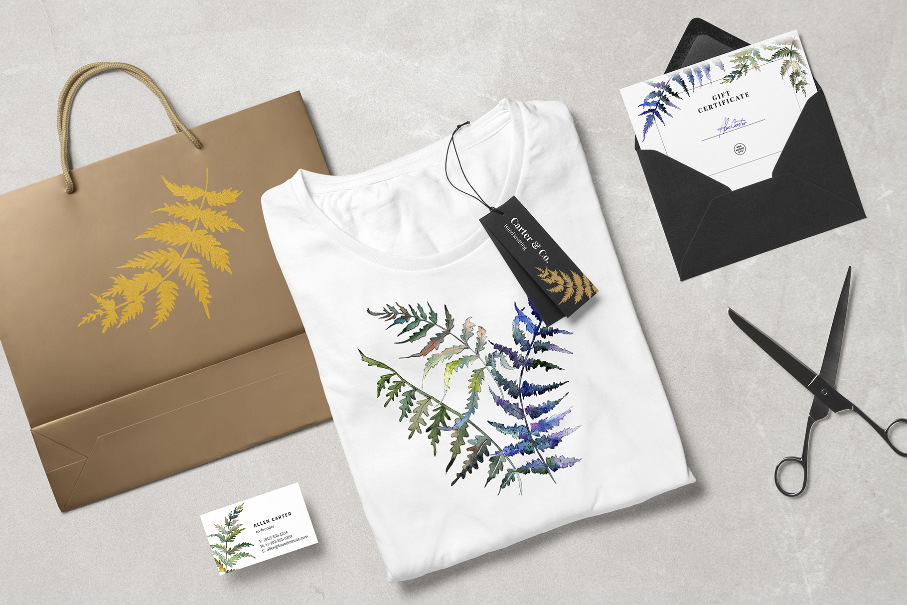 Fern leaf clipart watercolor png example image 5