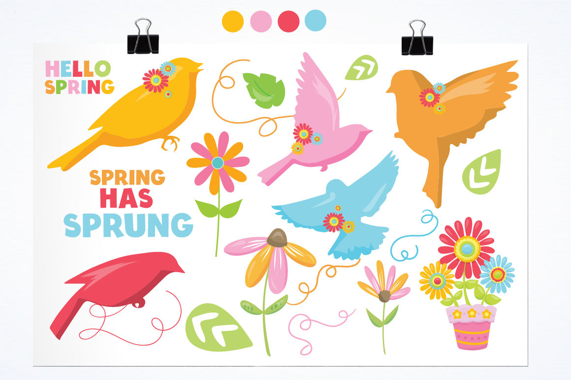 Spring Birds graphics and illustrations example image 2