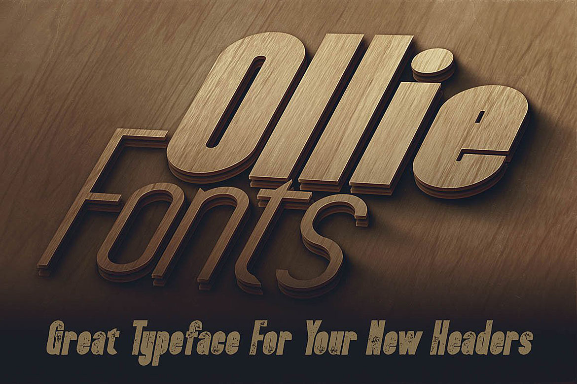Ollie Typeface example image 4