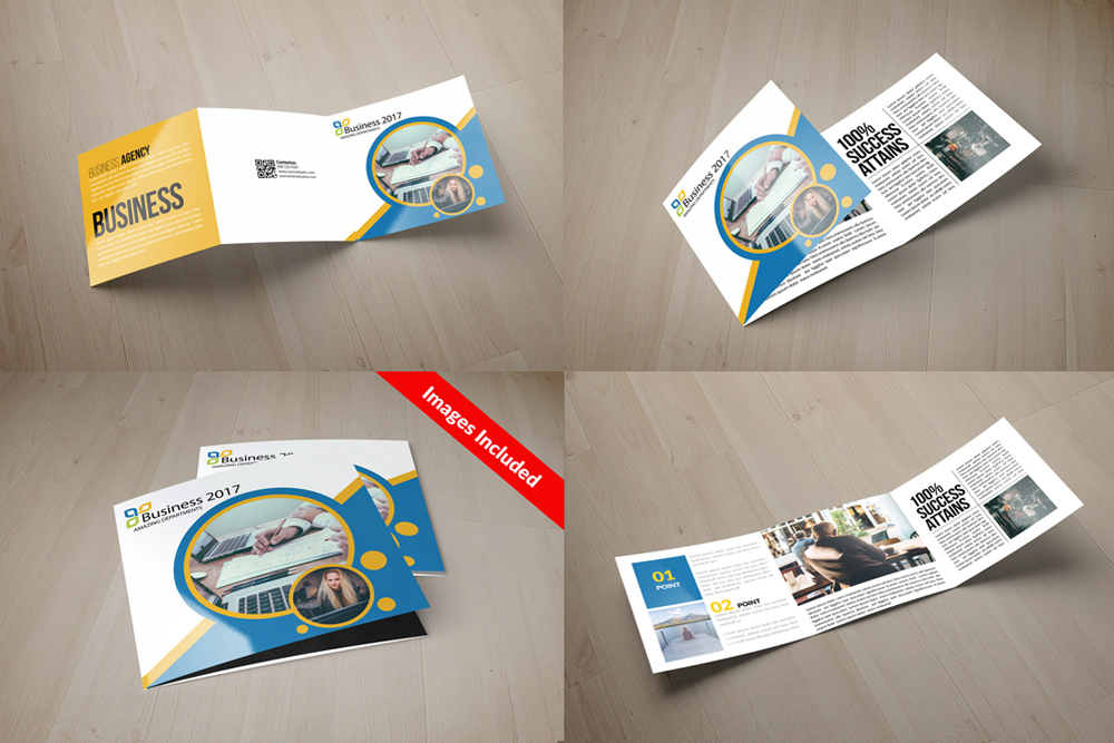 25 Square Trifold Business Brochures Bundle example image 9