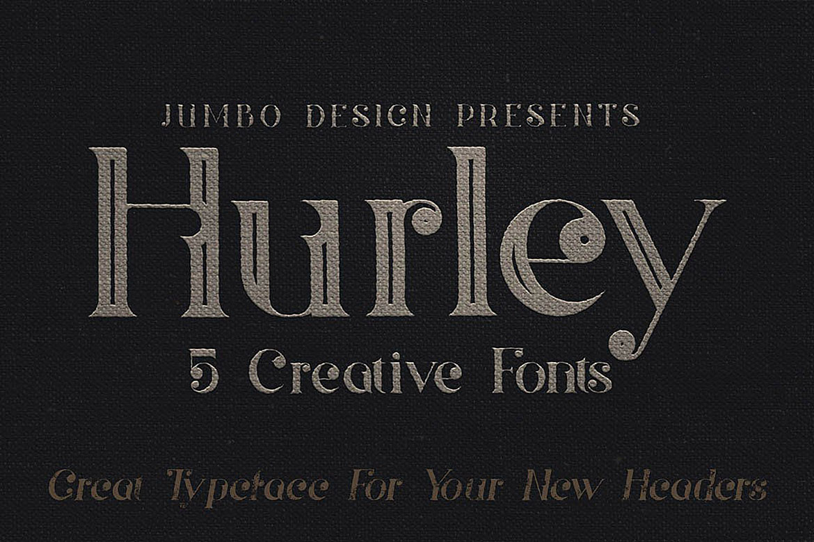 Hurley - Vintage Style Font example image 4