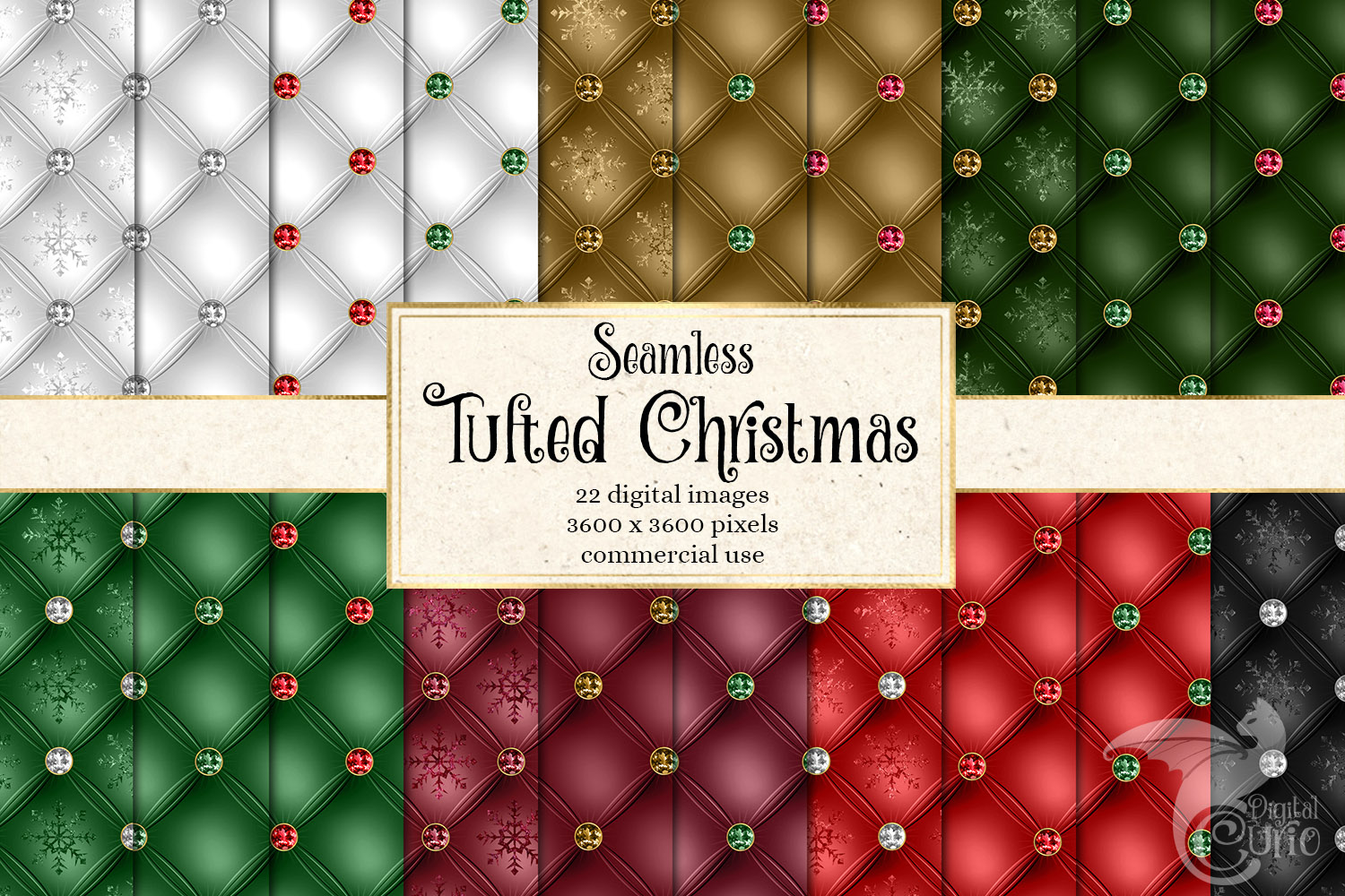 Tufted Christmas Digital Paper example image 1