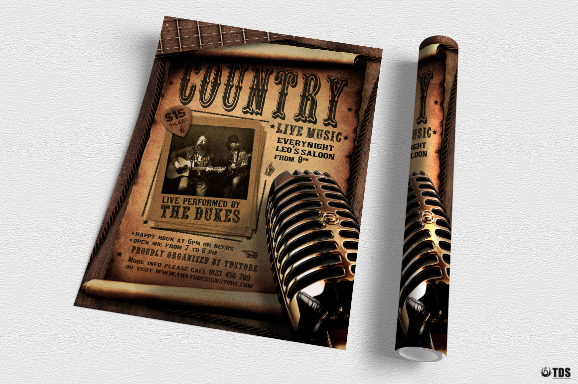 Country Live Flyer Template V5 example image 3