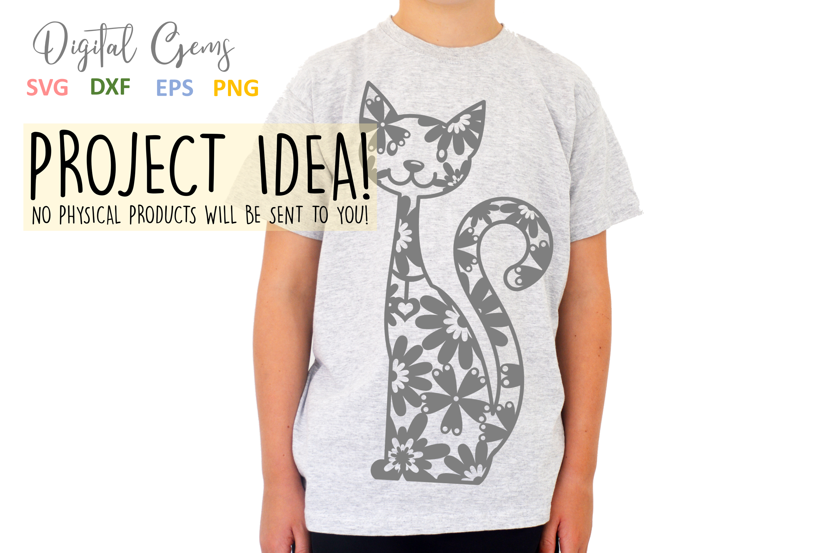Cat paper cut SVG / DXF / EPS files example image 2