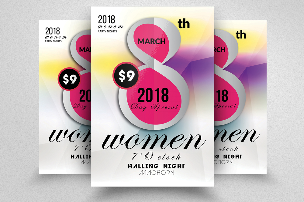 10 Women's Day Flyers Bundle example image 7