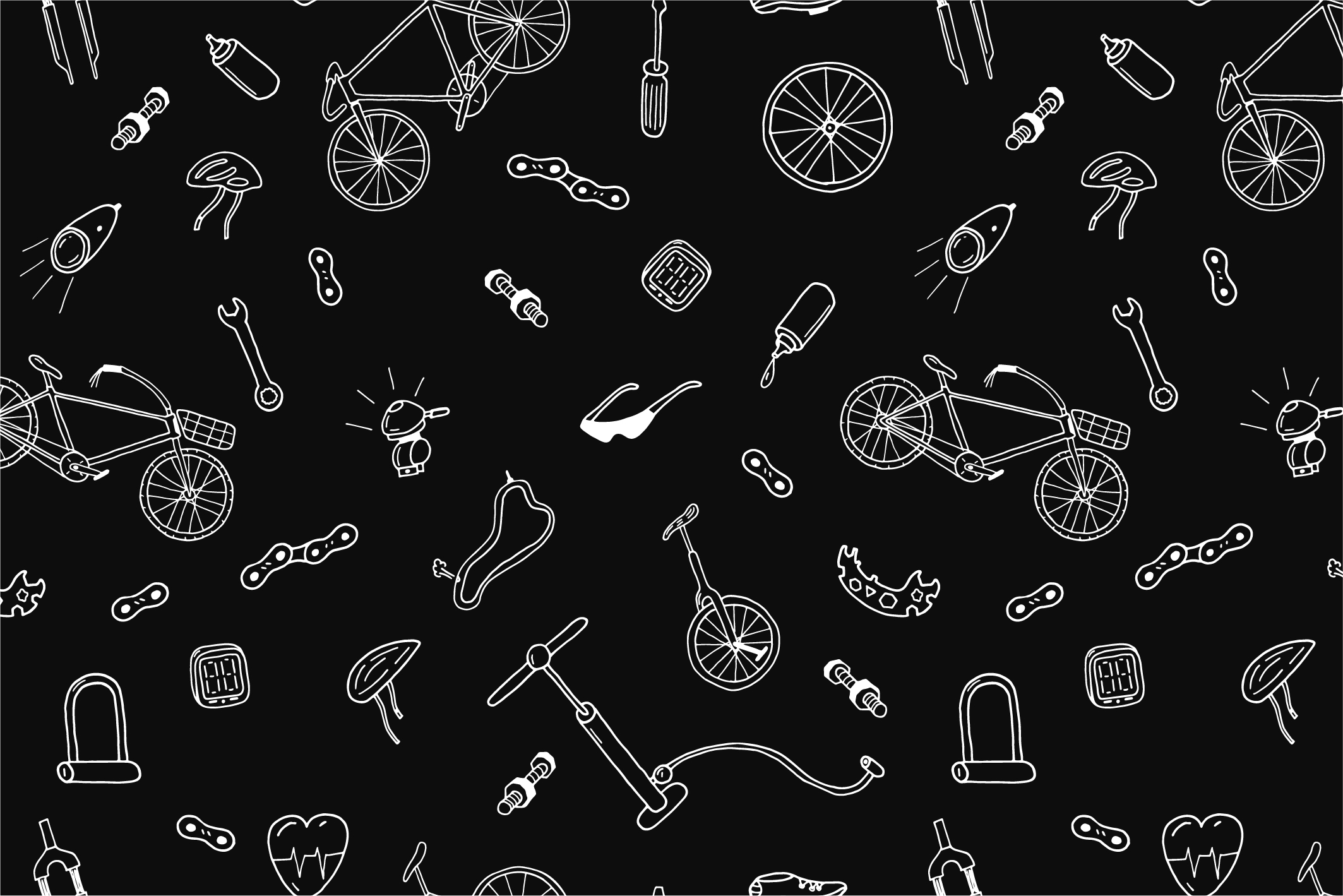 Bicycle collection in doodle style example image 6