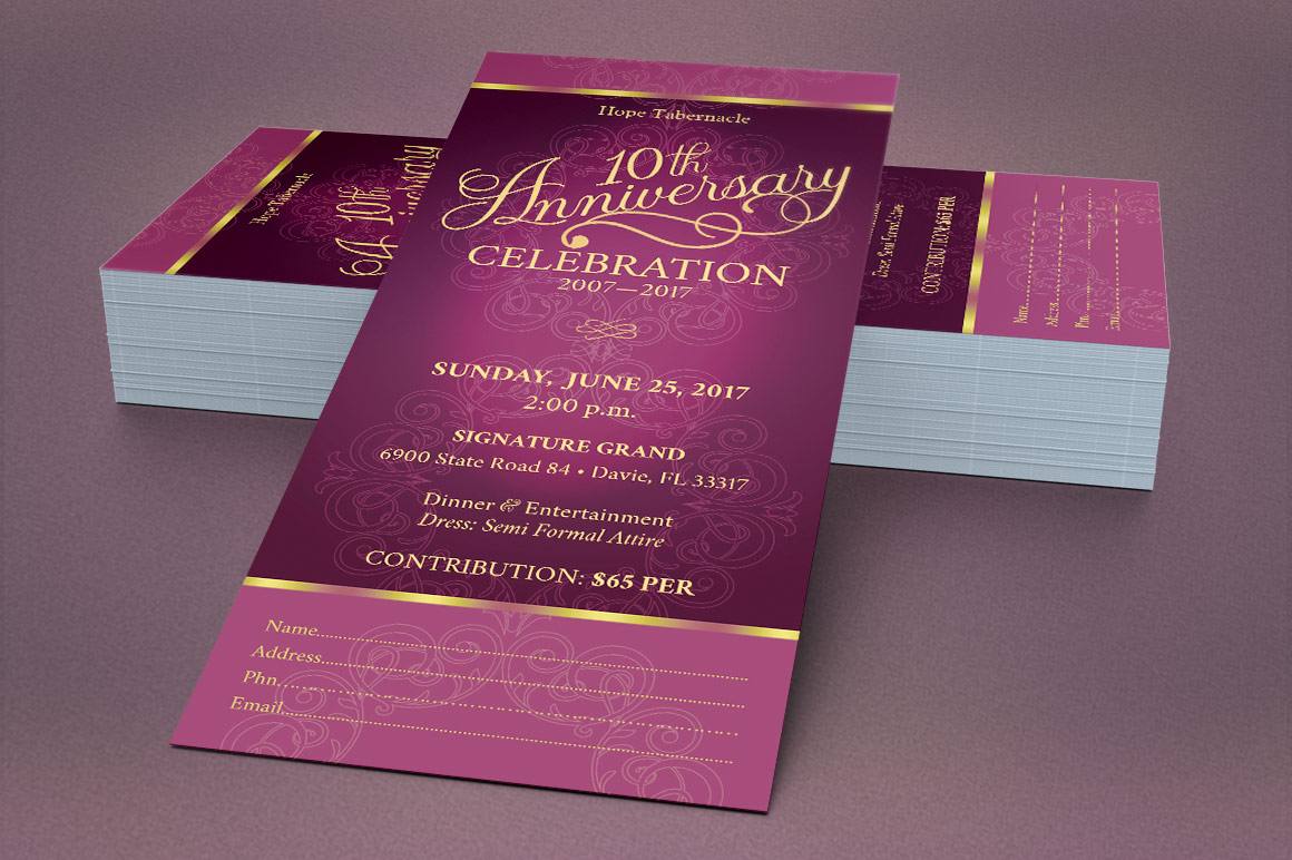 Church Anniversary Publisher Ticket Bundle example image 4
