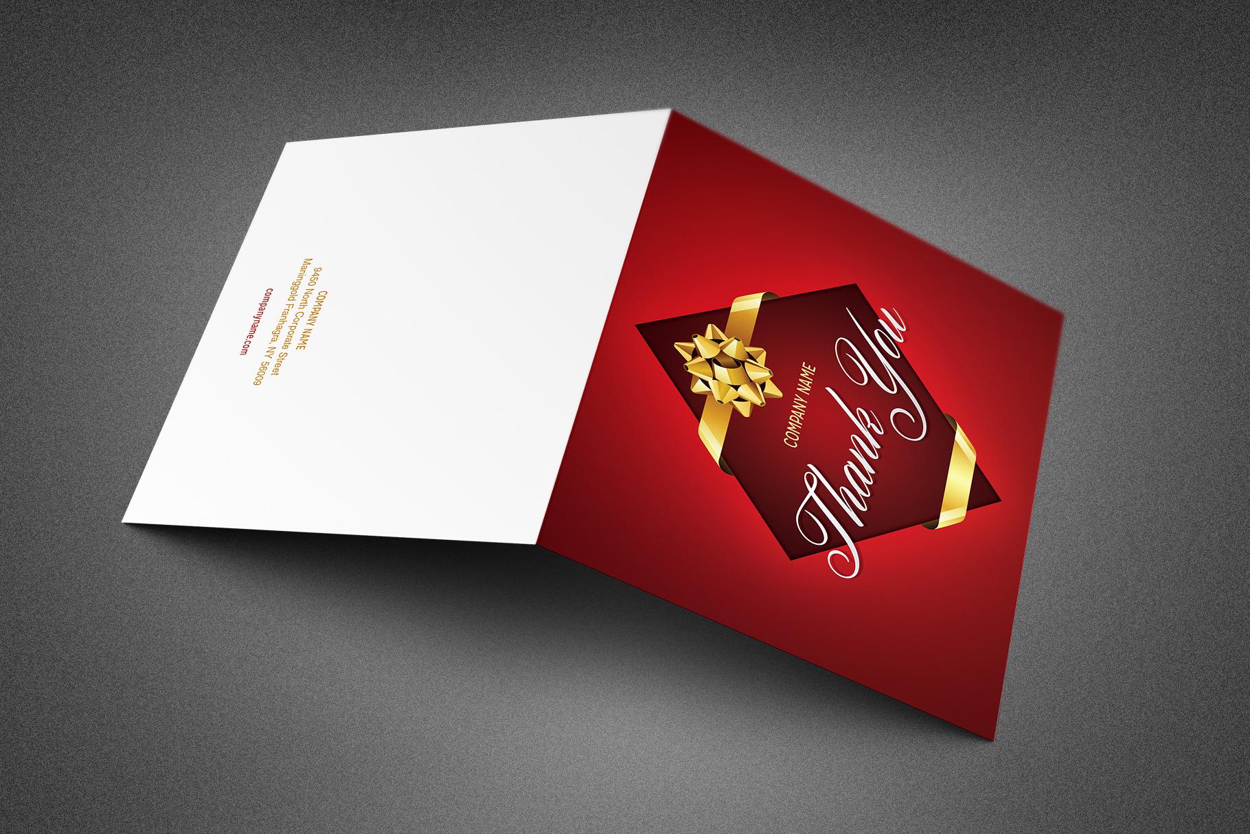 Company Christmas Thank You Card example image 2