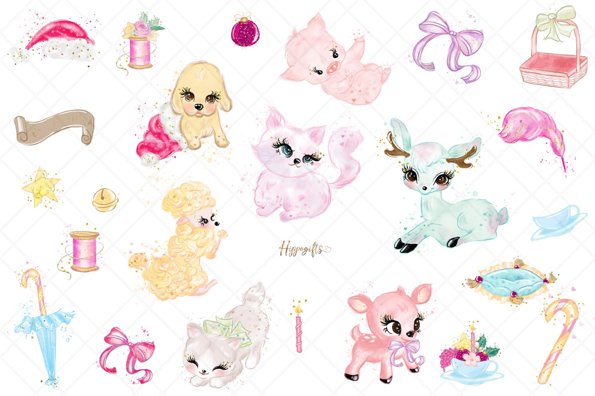 Animals Christmas Clip Art example image 2