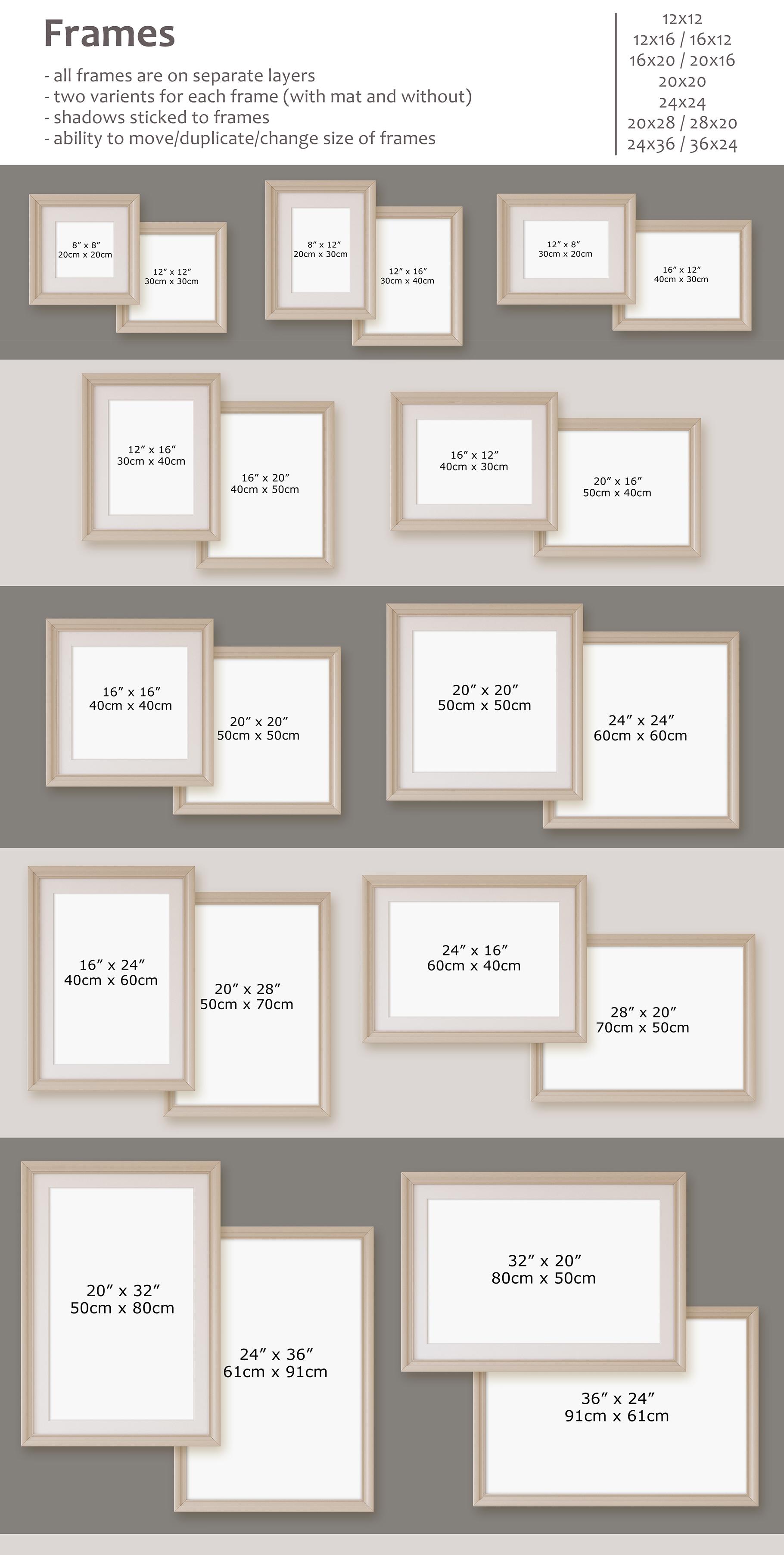Romantic nursery. Wall&Frames Mockup. example image 8