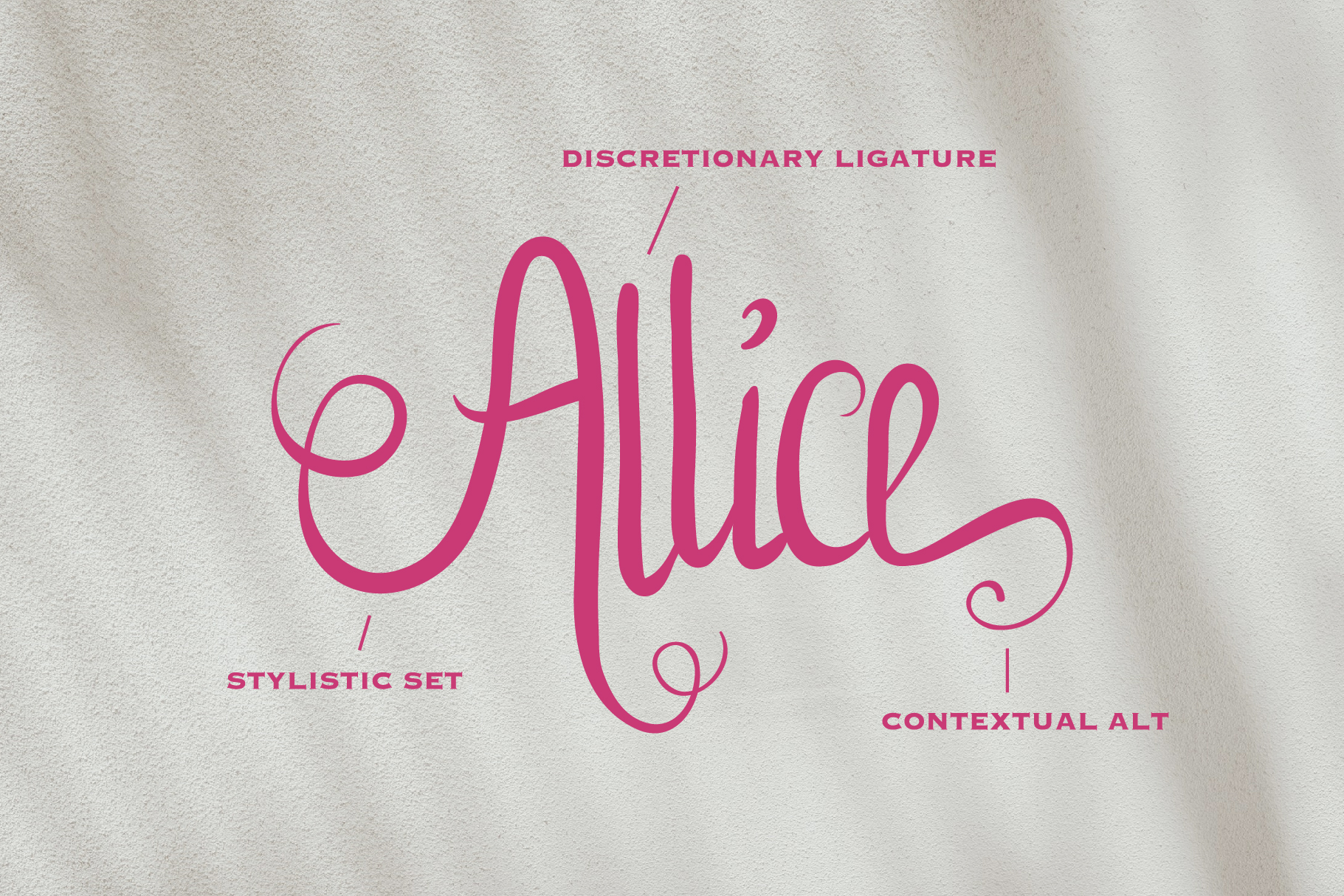 Allice Lovely Typeface & Extras example image 2