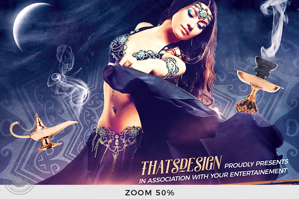Belly Dancing Flyer Template V2 example image 7